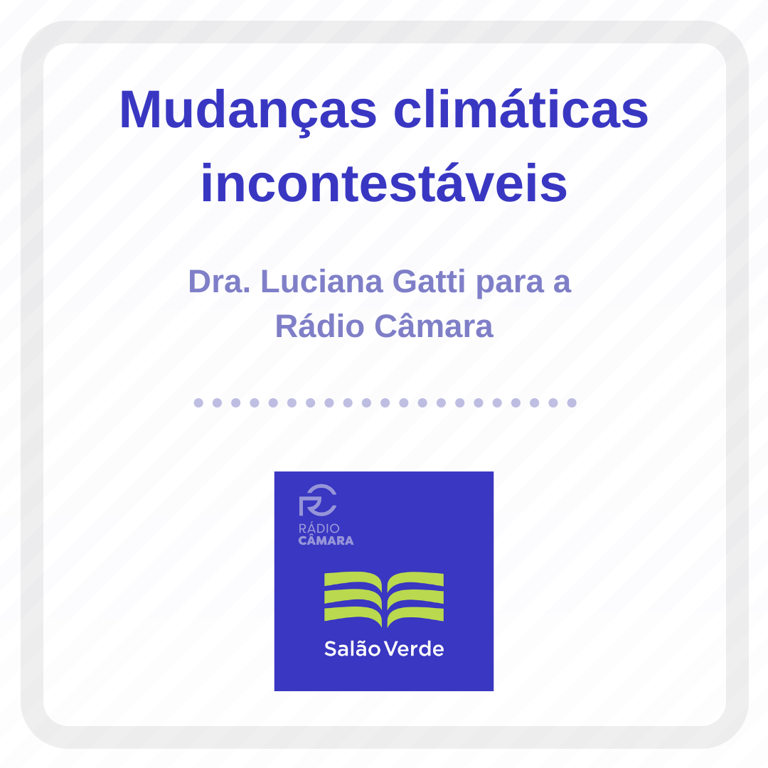 Pesquisadora do DIIAV-INPE, Luciana Gatti, concede entrevista à Rádio Câmara