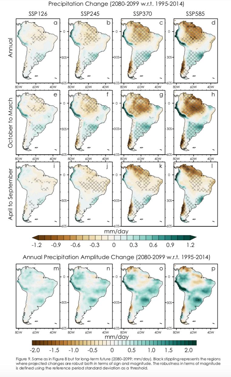 Novas projeções do clima para a América do Sul